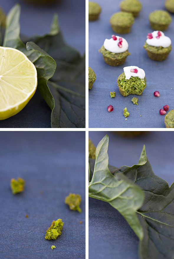 apple spinach muffins pieces