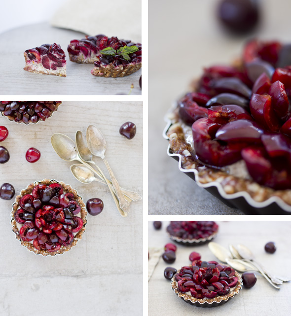 cherry chia tarts collage II