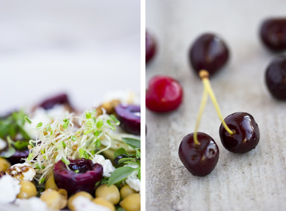 Chickpea Cherry Salad Collage