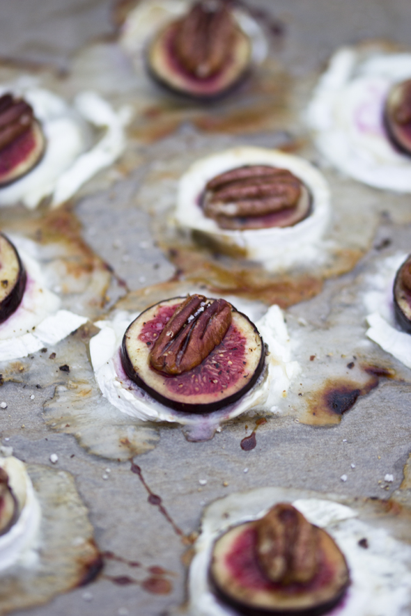 baked cheese and fig