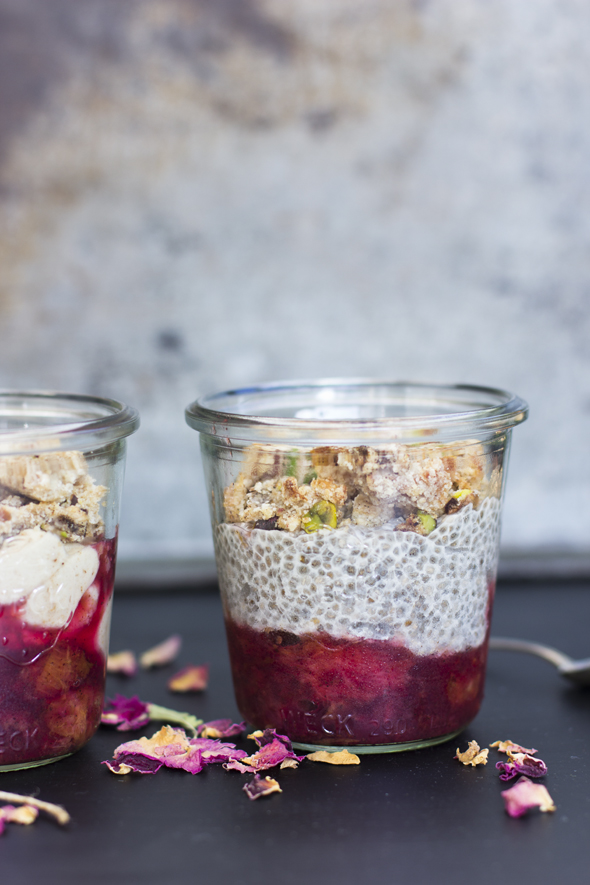 chia pudding jar side